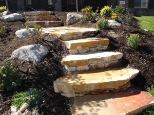 Custom Landscape Stone Work Design in Utah